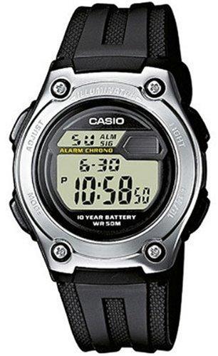 Casio CASIO Collection - Reloj digital unisex de cuarzo con correa de resina negra (luz, cronómetro, alarma) - sumergible a 50 metros