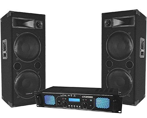 pack sono dj ampli 2x1000w enceintes 2x600w ma 4 sets de pa. Black Bedroom Furniture Sets. Home Design Ideas