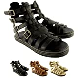 Womens Blowfish Rincon Gladiator Sandals Summer Buckles Ankle Shoes - Brown - 3