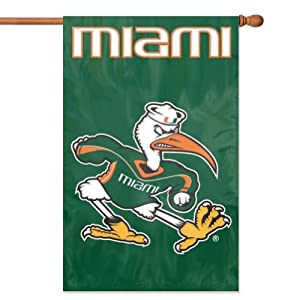 Buy Miami Hurricanes Ibis Applique Banner Flag by Party Animal