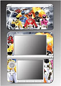 Power Rangers Megaforce Mighty Morphin MMPR Blue Red Black Pink Yellow Video Game Vinyl Decal Cover Skin Protector for Nintendo 3DS XL