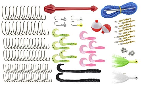 Ready to fish 136 piece 3 tray tackle box sporting goods for Ready 2 fish
