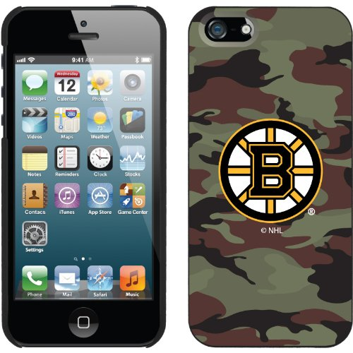 Great Sale Boston Bruins« Traditional Camo design on a Black iPhone 5s / 5 Thinshield Snap-On Case by Coveroo