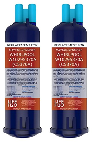 LifeH20 Premium Maytag Whirlpool Compatible Refrigerator Water Filter Replacement for Kenmore 46-9930, W10276924, Whirlpool W10295370A (C5370A), TWO Pack (P4rfwb Water Filter compare prices)