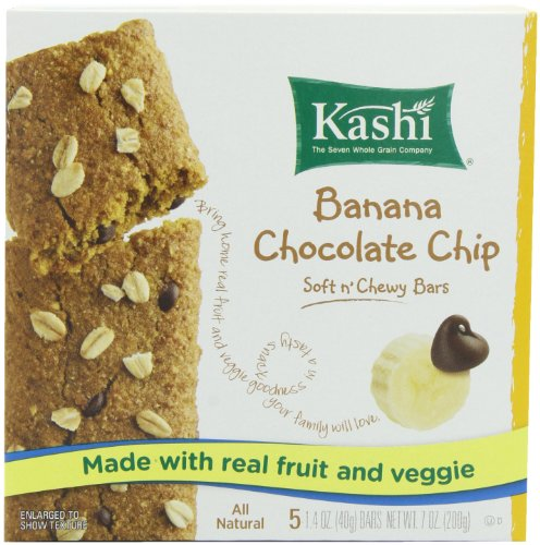 Kashi Chocolate Chip Chewy Snack Bar, Banana, 7-Ounce (Pack of 4)