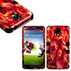 myLife (TM) Black - Bacon Overload Design (3 Piece Hybrid) Hard and Soft Case for the Samsung Galaxy S4 Fits Models: I9500, I9505, SPH-L720, Galaxy S IV, SGH-I337, SCH-I545, SGH-M919, SCH-R970 and Galaxy S4 LTE-A Touch Phone (Fitted Front and Back Solid Cover Case + Internal Silicone Gel Rubberized Tough Armor Skin)