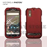 MOTOROLA PHOTONハードケース (au by KDDI ISW11M)【Red(赤)】