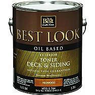 Best Look Oil-Based Exterior Deck Stain & Siding Toner-OIL REDWOOD DECK TONER