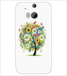 HTC ONE M8 COLORFUL TREE Designer Back Cover Case By PRINTSWAG