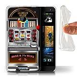 STUFF4 Gel TPU Phone Case Cover for HTC One1 M7 Machine Design Slot Machine Collection