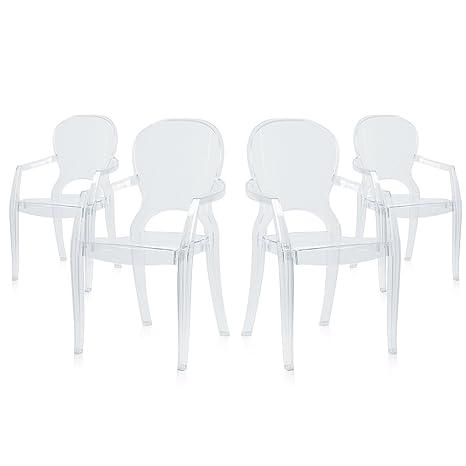 x4pz Poltrona sedia in policarbonato trasparente arredo design casa RUBY-T