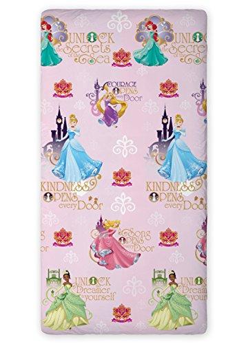 princess-fitted-sheet-90-x-200-cm-100-cotton-great-decoration-disney-ariel-cinderella-tiana-aurora