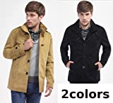 (JOY JOY JOIN) スプリングコート メンズ コート ジャケット カジュアル お兄系 コーディネート キレイめ きれいめ メンズ (2色選択 カーキ/ブラック)