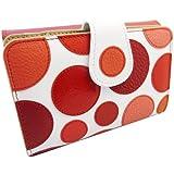 Idée cadeau pour femme! Portefeuille / porte-monnaie femme. Fabriqué en Espagne. Le portefeuille est un produit artisanal à la main en utilisant 100% cuir véritable et de la combinaison de couleurs utilisées pour chaque portefeuille est unique et différent. (Taille: 15x10x3 cm)
