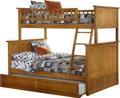 White Bunk Bed Twin Over Full 7698 front