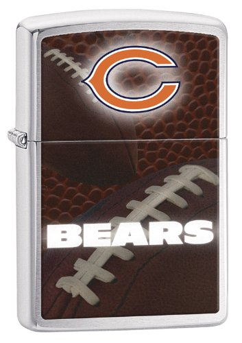 Zippo Pocket Lighter NFL Chicago Bears Brushed Chrome Pocket Lighter (Chicago Bears Lighter compare prices)
