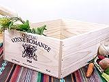 ワイン木箱【Mサイズ】収納箱に最適!職人手作り シンプルワインボックス ロゴ(ヴォーヌ・ロマネVosne Romanee )[WB100M]