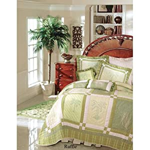 Brown Pinstripes Queen Bed Skirt - Vineyard Dream
