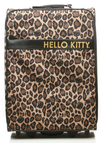 Hello Kitty Leopard Print Carry-on Rolling Luggage