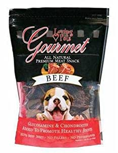 Loving Pets DLV5501 All Natural Dog Gourmet Jerky Premium Snack Strip, Beef Meat, 2.5-Ounce