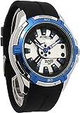 [シチズン Q&Q]腕時計 アトラクティブ ウレタンバンド アナログ メンズ ブラック×ブルー DA54J321Y [並行輸入品]