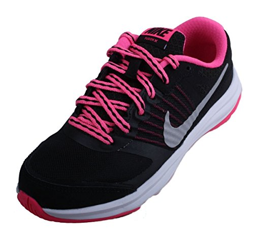 pictures of Nike Girls Dual Fusion X Running Shoe Preschool  Shoes-BlackMetallic