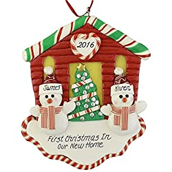 First Christmas New House for A Couple Personalized Ornament