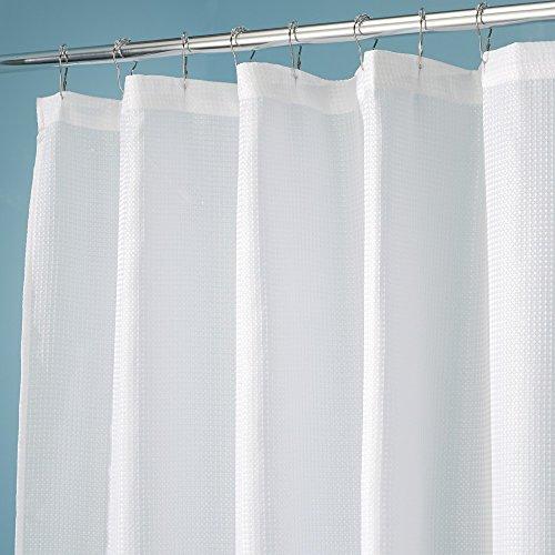 Interdesign Carlton Fabric Shower Curtain Wide 108 X 72 White 081492236801