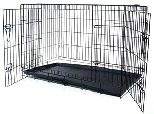 YML 48-Inch 2-Door Heavy Duty Dog Crate, Black