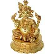 Lord Ganesha Decorative Special Designed Handcurved Showpiece- 13.5 Inch In Height