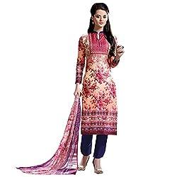 SHELINA Women Pink Glass Cotton Digital Printed Salwar Suit
