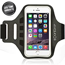 buy Iphone 6 /6S Plus, Samsung Note 5/4, Sports Armband - Great For Running, Cycling, Workouts Or Any Fitness Activity , Sweat Proof - Build In Key + Id + Credit Cards & Money Holder By Danforce (Black)