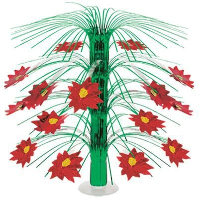 Poinsettia Cascade Centerpiece Party Accessory (1 count) (1/Pkg)