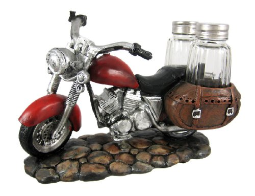 SPICY RIDER Retro Motorcycle Salt & Pepper Shaker Set