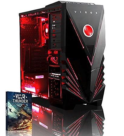 Vibox Ultra 11A Unité centrale Néon Rouge (AMD Athlon 64 fx, 8 Go de RAM, 1 To, AMD Radeon R7)