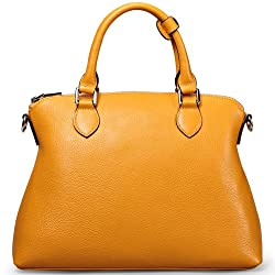 Ilishop Women's Genuine Leather Tote Handbag