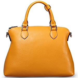 Ilishop Women's Genuine Leather Tote Handbag