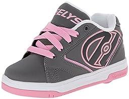 Heelys Propel Skate Shoe (Toddler/Little Kid/Big Kid), Grey/Pink, 8 M US Big Kid