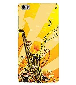 Printvisa Yellow Background Saxophone Back Case Cover for Xiaomi Redmi Mi5::Xiaomi Mi 5