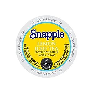 Keurig, Snapple, Lemon Iced Tea, K-Cup packs, 12 Count, (Pack of 6)