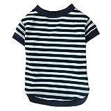 DDLBiz® Fashion Vêtement pour Chien-Chat-Anamal Domestique - Style Classique - Coton été T-Shirt / Veste à Rayures (XL, Blanc)...