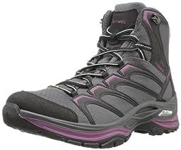 Lowa Women\'s Innox Goretex Mid Hiking Boot,Anthracite/Prune,8.5 M US
