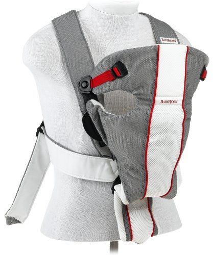 BABYBJRN Baby Carrier Air - Gray/White, Mesh