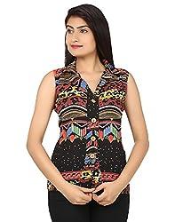 Kiosha Multi Color Chiffon Sleeveless shirt for women