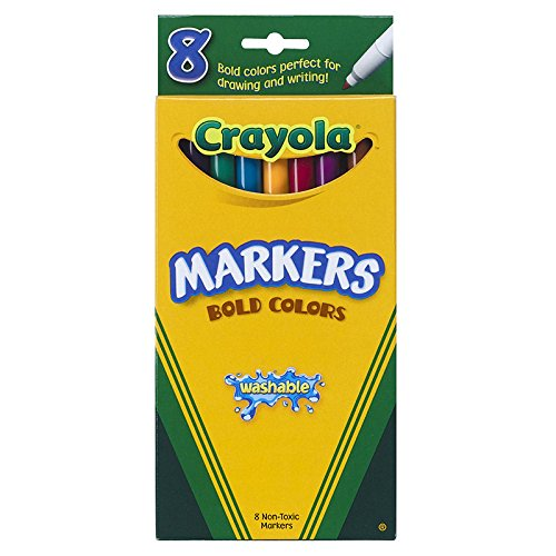 CRAYOLA LLC WASHABLE MARKERS 8CT BOLD COLORS (Set of 3) crayola llc crayola oil pastels 28 color set set of 12