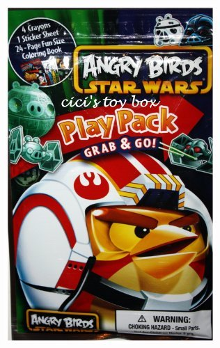 Angry Birds Star Wars Play Pack: Crayons Stickers & Coloring Book feat. Yoda, Darth Vader, Chewbacca, Princess Leia, Luke Skywalker & more! - 1