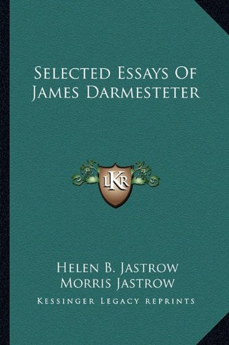Selected Essays of James Darmesteter