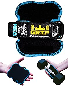 Best Lifting Grips by Grip Power Pads® NEO   The Alternative To Gym Gloves   Workout Gloves No-Slip Padded Gloves Bodybuilding   Men Workout Grip Pad Neoprene Padded Lifting Pads.