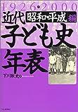 近代子ども史年表1926‐2000 昭和・平成編