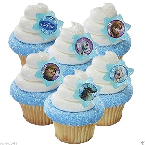 A Birthday Place Disney's Frozen 12 Count Cupcake Rings, Assorted - 1